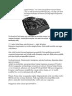 Menggunakan Keyboard Tanpa Mouse
