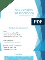 Planeación y Control de Producción