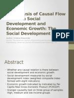 An Analysis of Causal Flow Between Social DevelopmentAbha