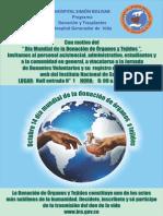Afiche Día Mundial de La Donación 2015