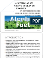 Alcohol as an Alternative Fuel
