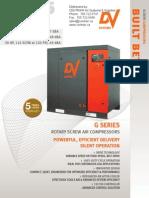 G Series20hp 25hp 30hp Rotary Screw Compressor Brochure