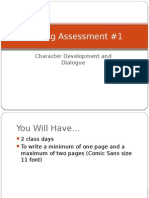 writing assessment 1 character development and dialogue
