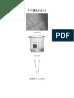 Materiales y Equipos  de laboratorio