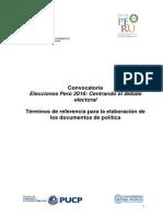 CIES-TDR Para Documentos de Políticas Elecciones 2016