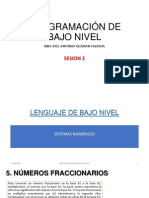 Sesion 2 - Lenguaje de Bajo Nivel - Sistemas Numericos II