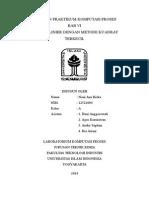 Bab 6 Regresi Linier Dengan Metode Kuadrat Terkecil