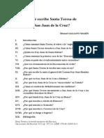 Que Escribe Santa Teresa De San Juan De La Cruz