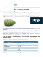 Propiedades de Guanabana
