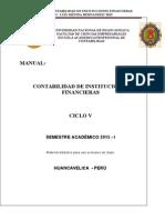 Manual Contabilidad de Instituciones Financieras - 2015