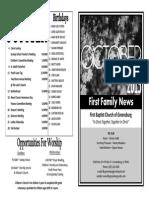 FBC Newsletter 10 2015