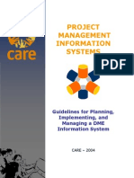 Guidelines for Planning, Implementing, And Managing a DME Information System