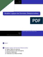 Outline MLD Modèle Logique de Données Relationnelles