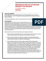 Nelson draft Panhandling Bylaw 3321, 2015