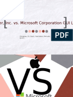 Apple Vs Microsoft GUI dispute
