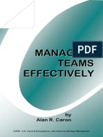 Managing Teams Effectively