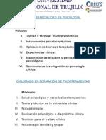 Diplomado y Especialidad en Psicología Clínica