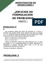 Investig. Operac. Prob. 15 II