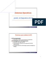 Gestion de dispositivos E-S