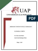 Habeas Corpus - Constitucional Comparado