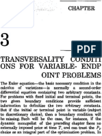 Chiang Chap 3. Transversality Conditions for Variable-Endpoint Problems