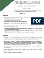 Examen PAU Fisica Julio-2014 Soluciones