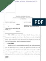 Mehta v. DOS ORDER Denying Ps Mtn for TRO 10.7.15