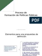 proceso de formación de políticas publicas