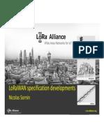LoRaWAN Specification Developments