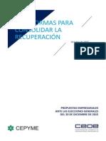 15 Reformas Para Consolidar La Recuperacion CEOE CEPYME
