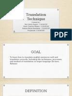 Translation Technique