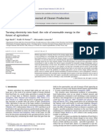 Turning Electricity Into Food - The Role of Renewable Energy in the Future of Agriculture (Ugo Bardi, Journal of Cleaner Production, 2013)