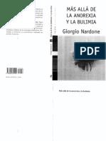Mas Alla de La Anorexia y de La Bulimia - NARDON
