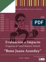 2015 UDAPE Evaluacion BonoJuanaAzurduy