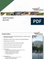 Metals Exploration Plc - Update Presentation March 2010