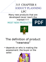 Ba 315 Chapter 8 New Product Planning