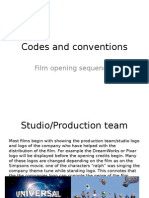 Opening Sequence codes and conventions