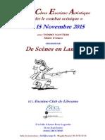 Fiche d'Inscription Master Class 14 Et 15 Nov 2015