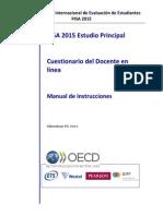 Manual de Instrucciones Cuestionario Del Docente