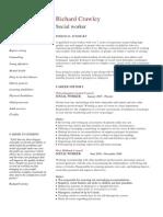 Social Worker CV Sample