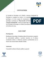 CONVOCATORIA OFICIAL DE PARTICIPACI+ôN REPENSANDO LA PSICOLOG+ìA