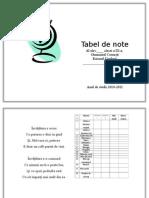 Tabel de Note