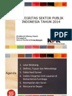 Integritas Sektor Publik oleh KPK 2014