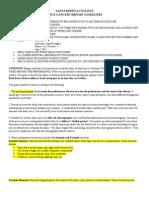 Dance Concert Report Guidelines