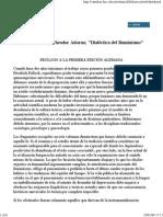[a] HORKHEIMER, Max y ADORNO, Theodor - Dialéctica Del Iluminismo