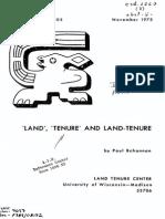 BOHANNAN Land, Tenure and Land-Tenure