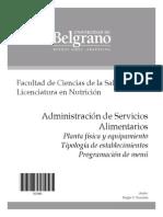 Administracion de Servicios Alimentarios - Scacchia