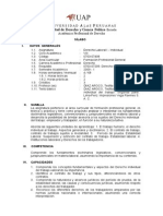 Syllabus Derecho Laboral i - Individual Derecho Uap