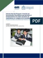 2012 - Creación de Herramientas Informáticas Que Permitan El Fortalecimiento de Clubes Escolares de Matemáticas