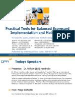 WebinarSlides_PracticalToolsForBalancedScorecardImplementationAndMaintenance